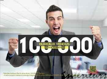 Meubles Intérieurs fête la vente de son 100000ème bureau par une action sociale